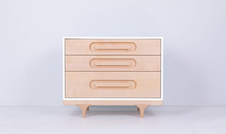 Caravan Dresser White front view
