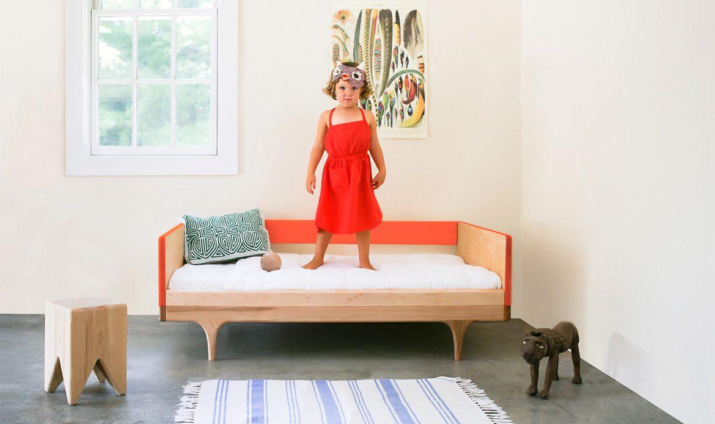 Red Caravan Divan Toddler Bed 'in the wild'