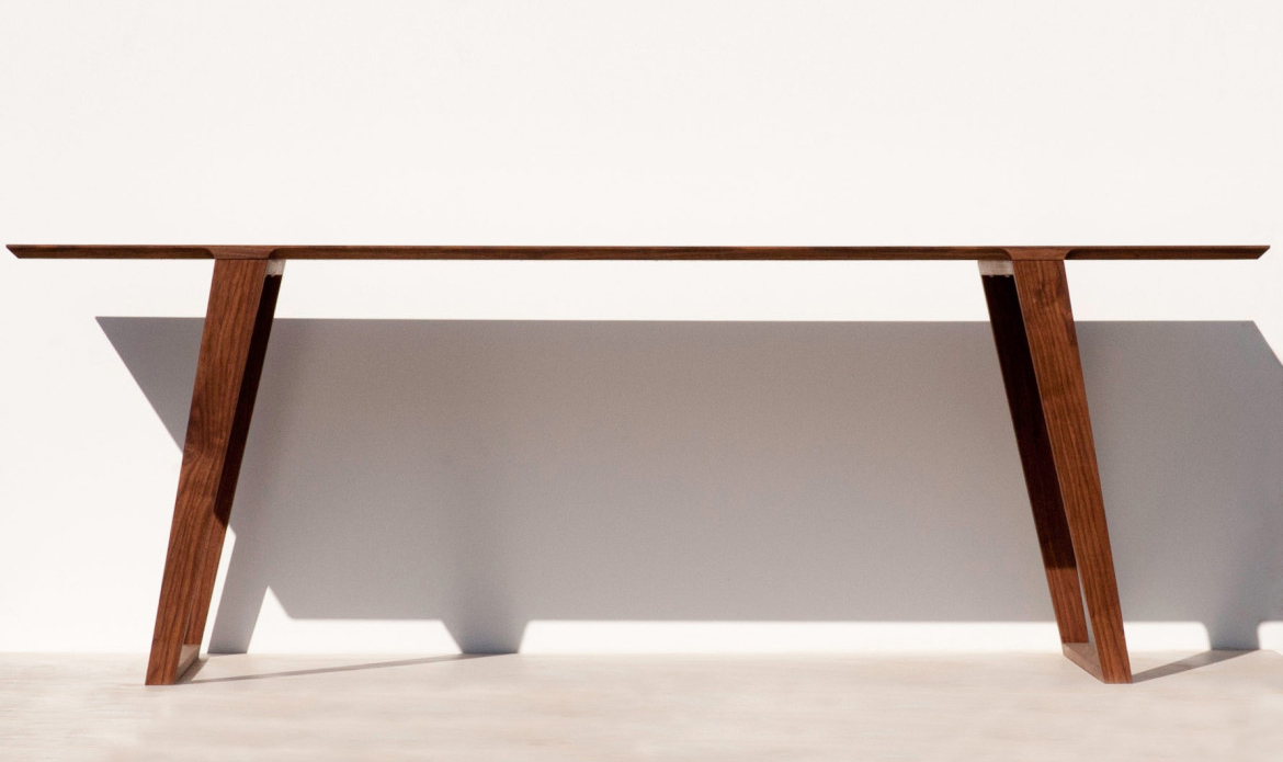 Isometric Table Black Walnut small