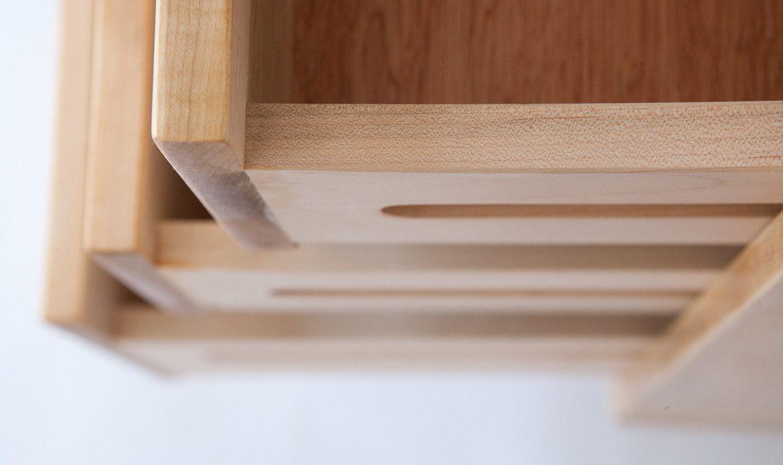 Caravan Dresser Oiled detail of drawer construction