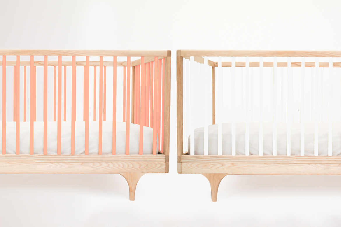 Caravan Cribs in White and Pink