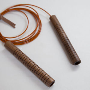 Jump Rope with Black Walnut Handles