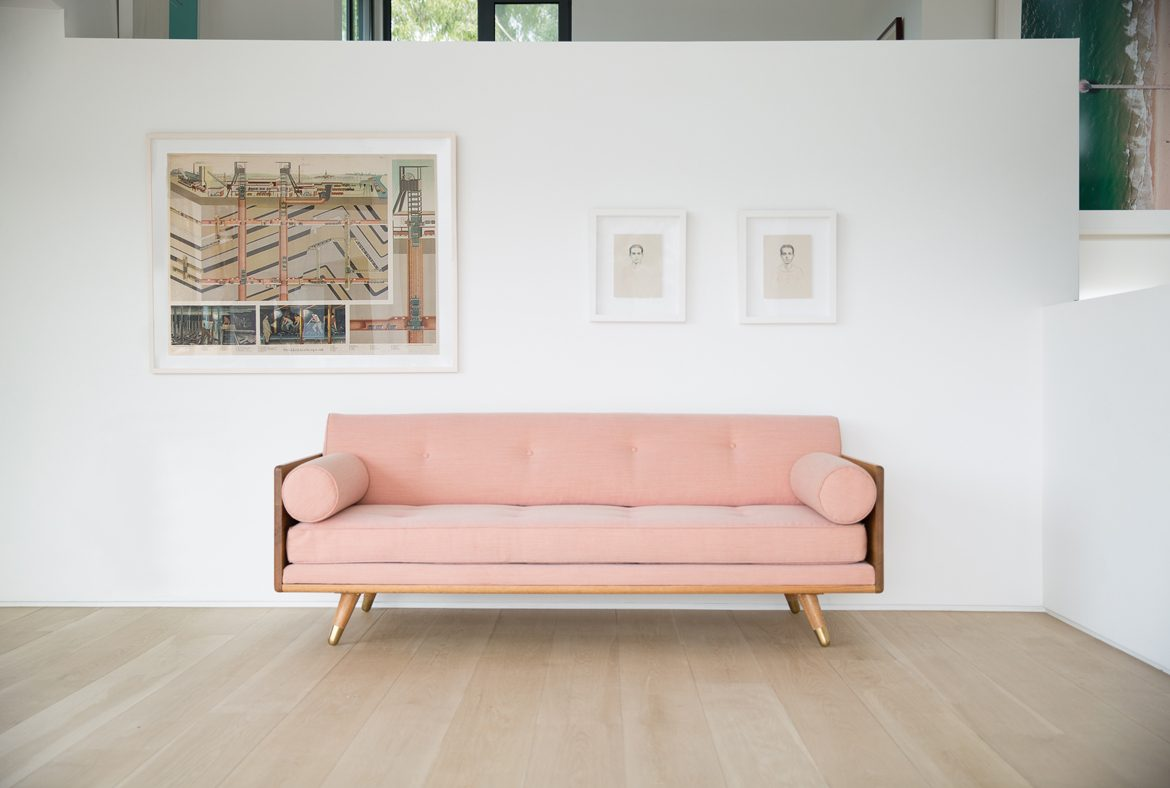 No.5 Series Sofa in Pink