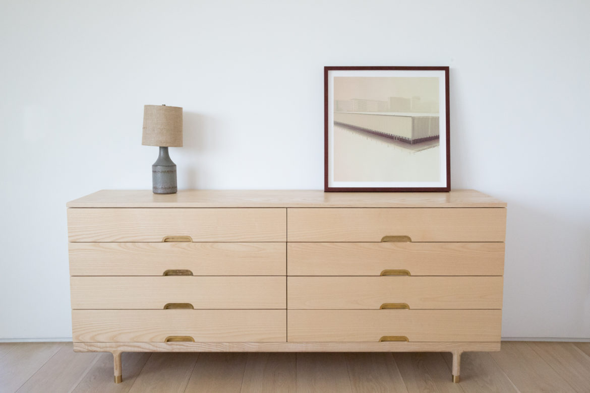 Simple dresser ash and brass