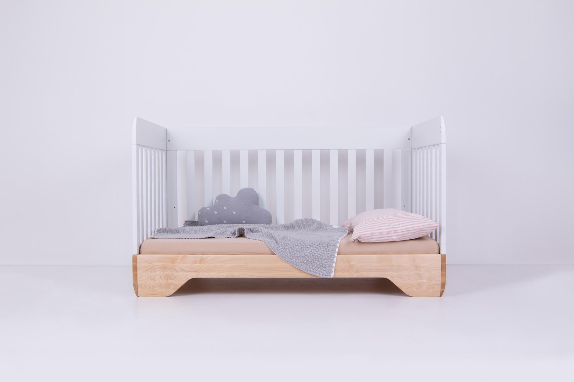 Echo Crib Modern Solid Wood Convertible Crib Kalon