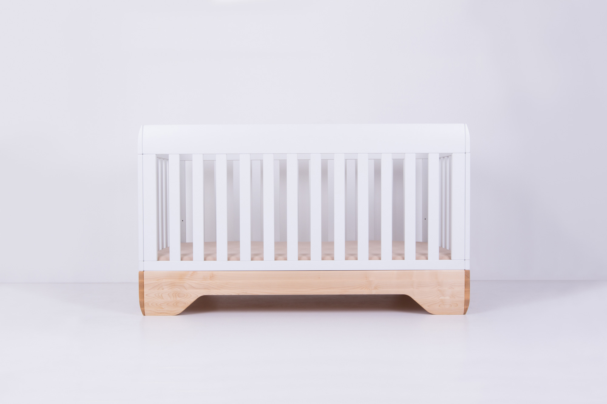 Echo Crib White Mattress Support Low Position