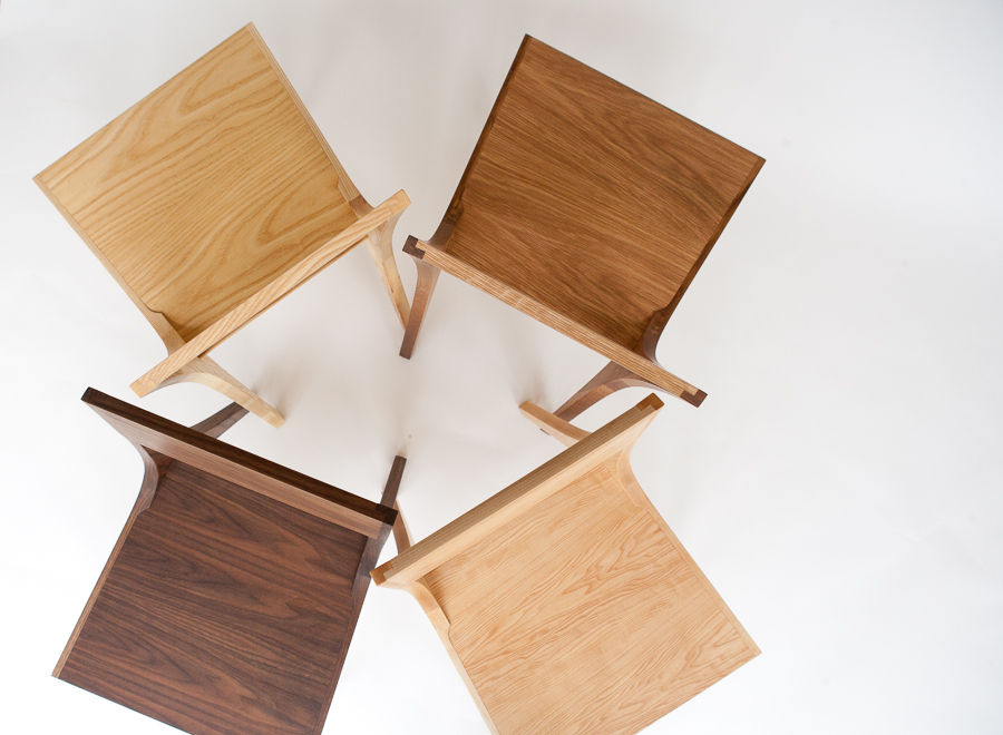 Isometric chairs hardwoods