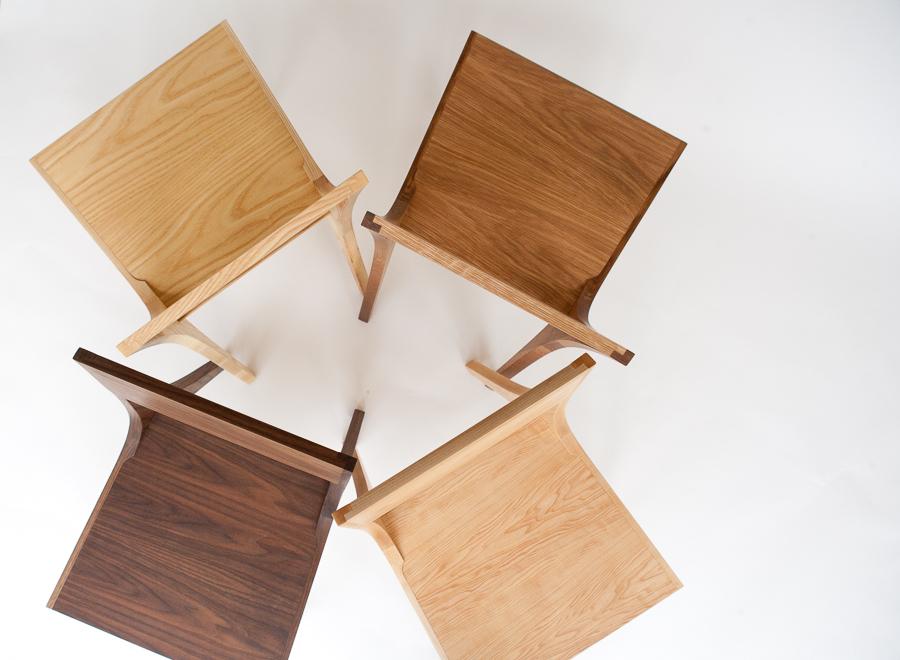 Isometric chairs hardwoods