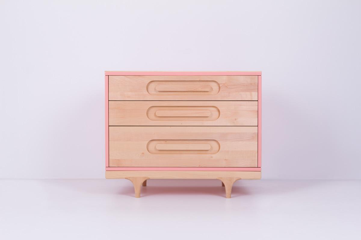 Caravan Dresser Pink
