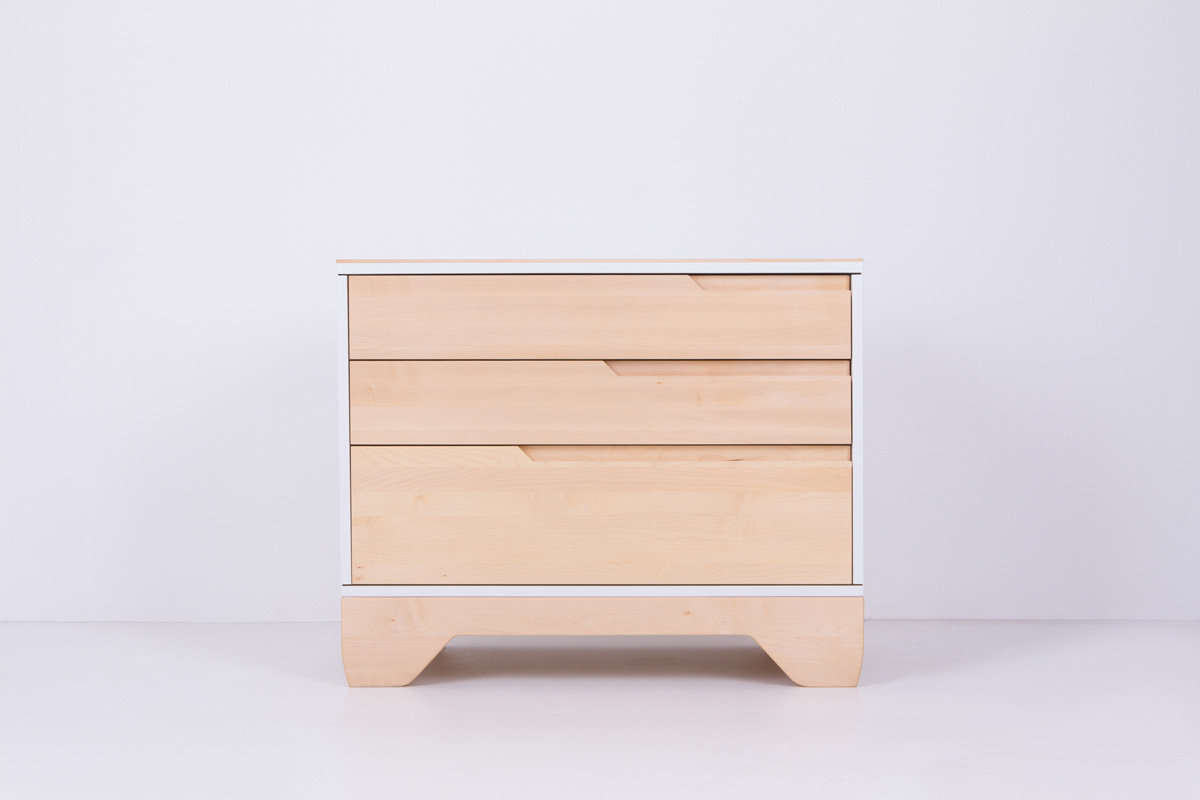Echo dresser solid maple painted white