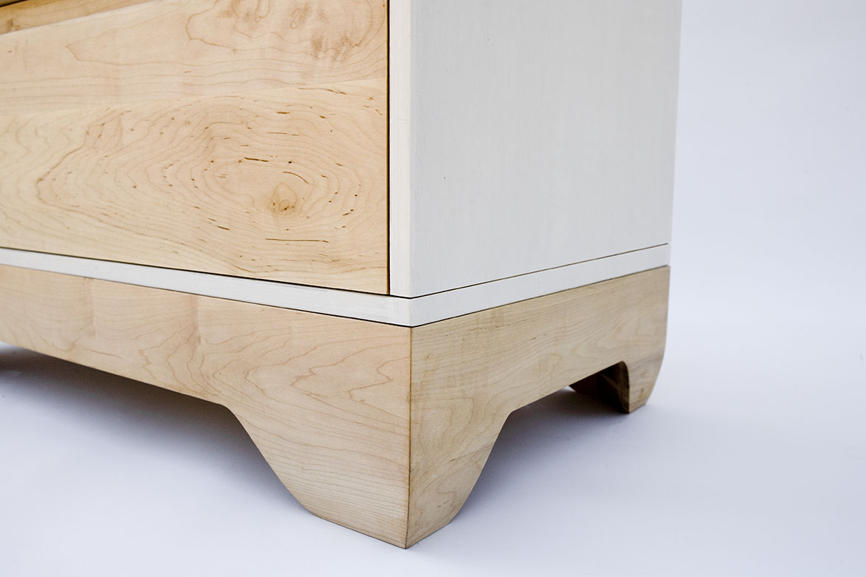 Echo dresser solid maple detail