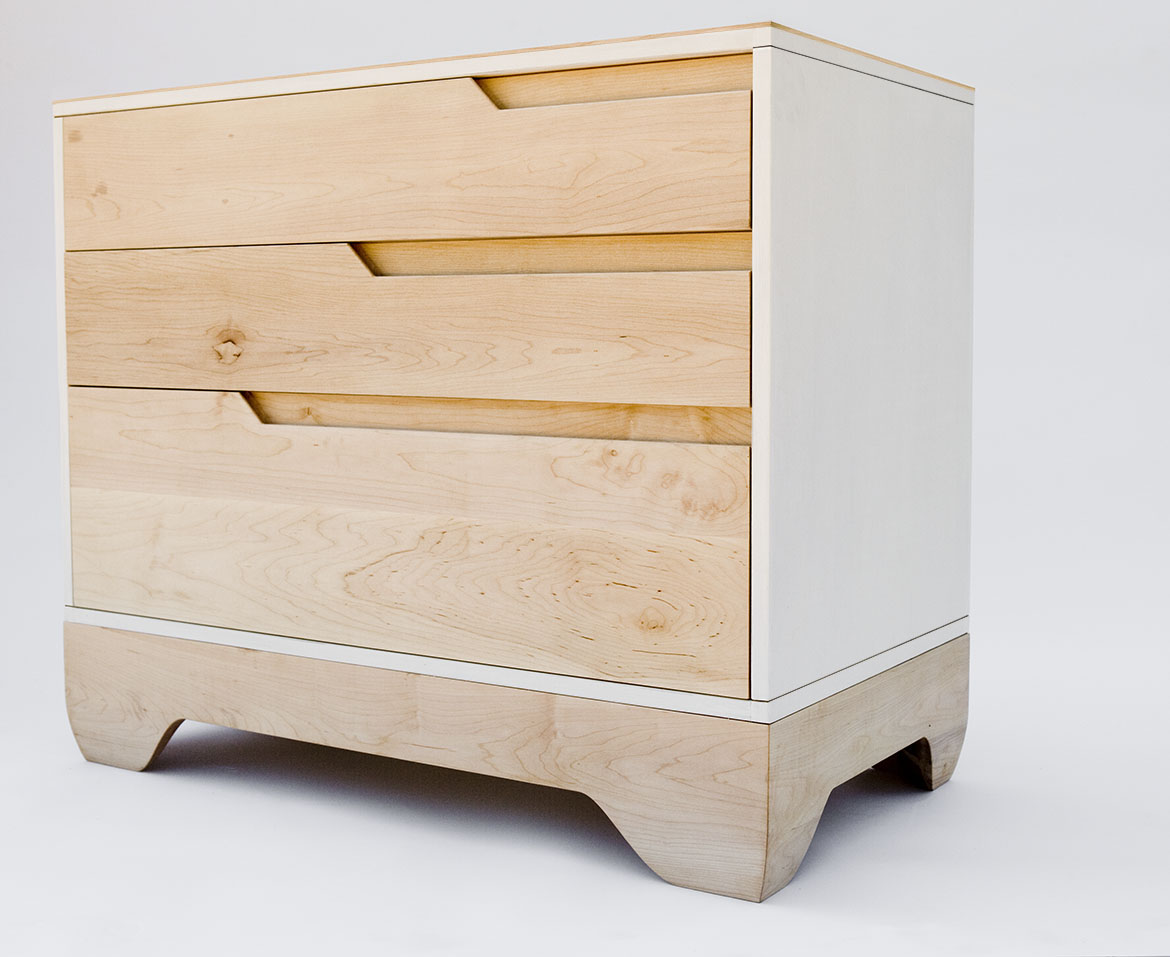 Echo Dresser solid maple side view