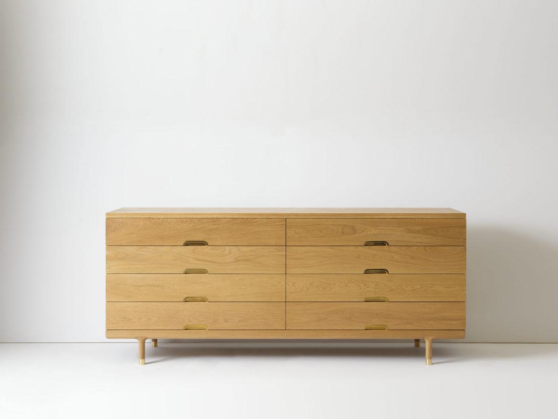 Custom Simple Dresser in White Oak
