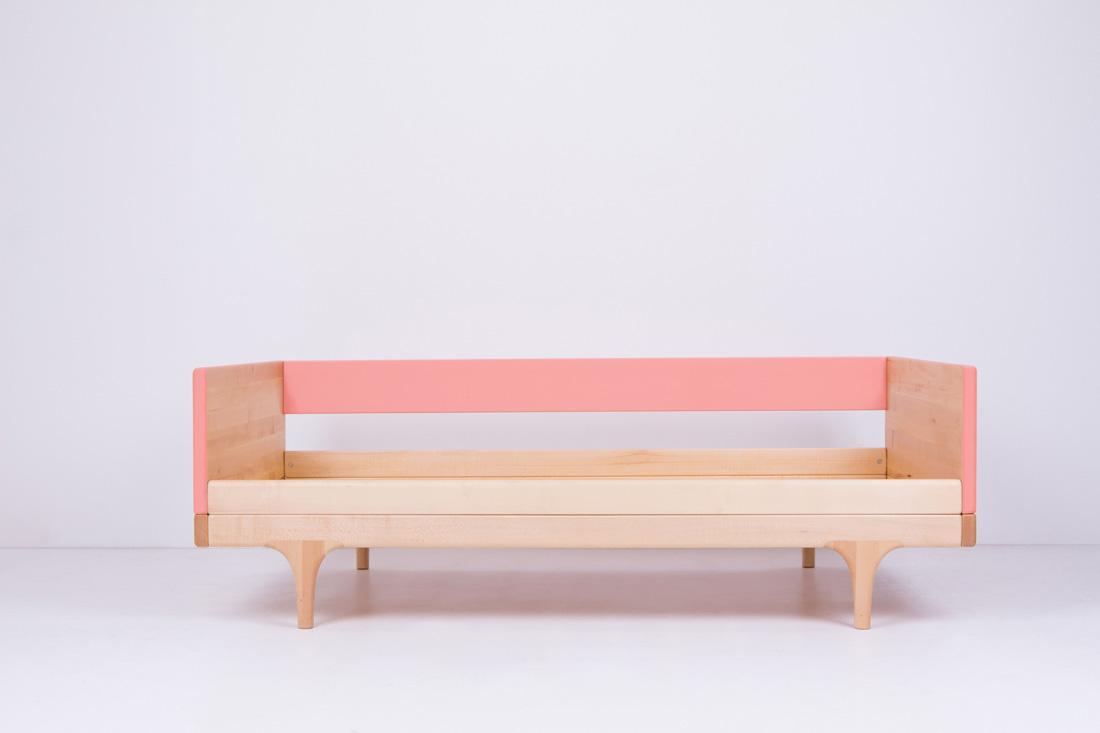 Pink Caravan Divan Toddler Bed