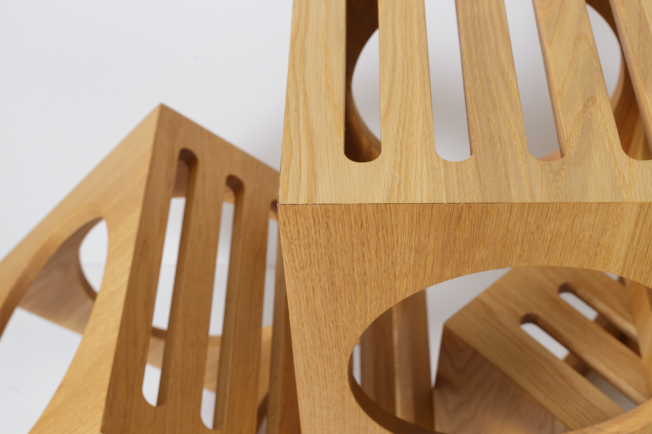 3 Blocks Solid Wood Nesting Tables or Stools Detail