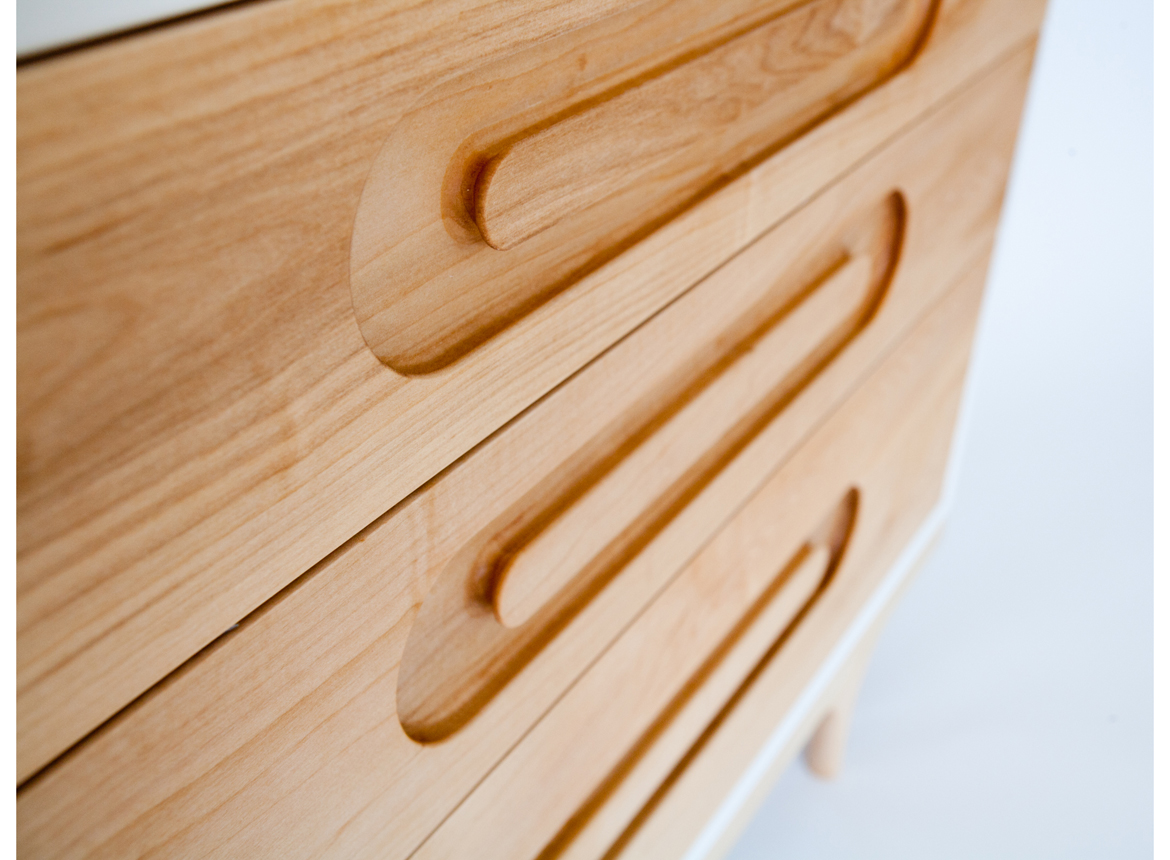 Caravan Dresser detail solid wood