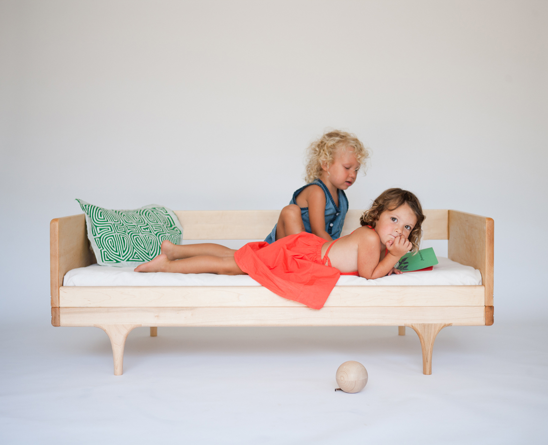 caravan divan  modern solid wood toddler bed  kalon studios us - caravan divan toddler bed 'in the