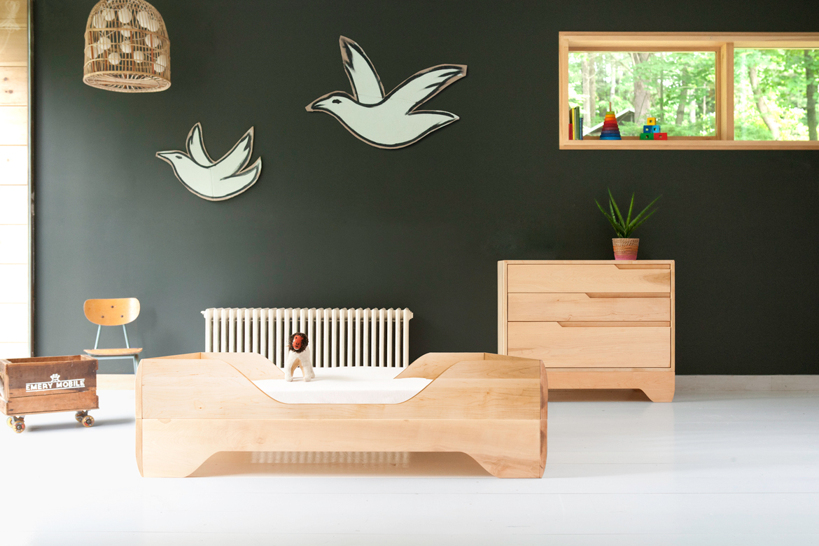 Echo Toddler Bed and Echo Dresser oiled