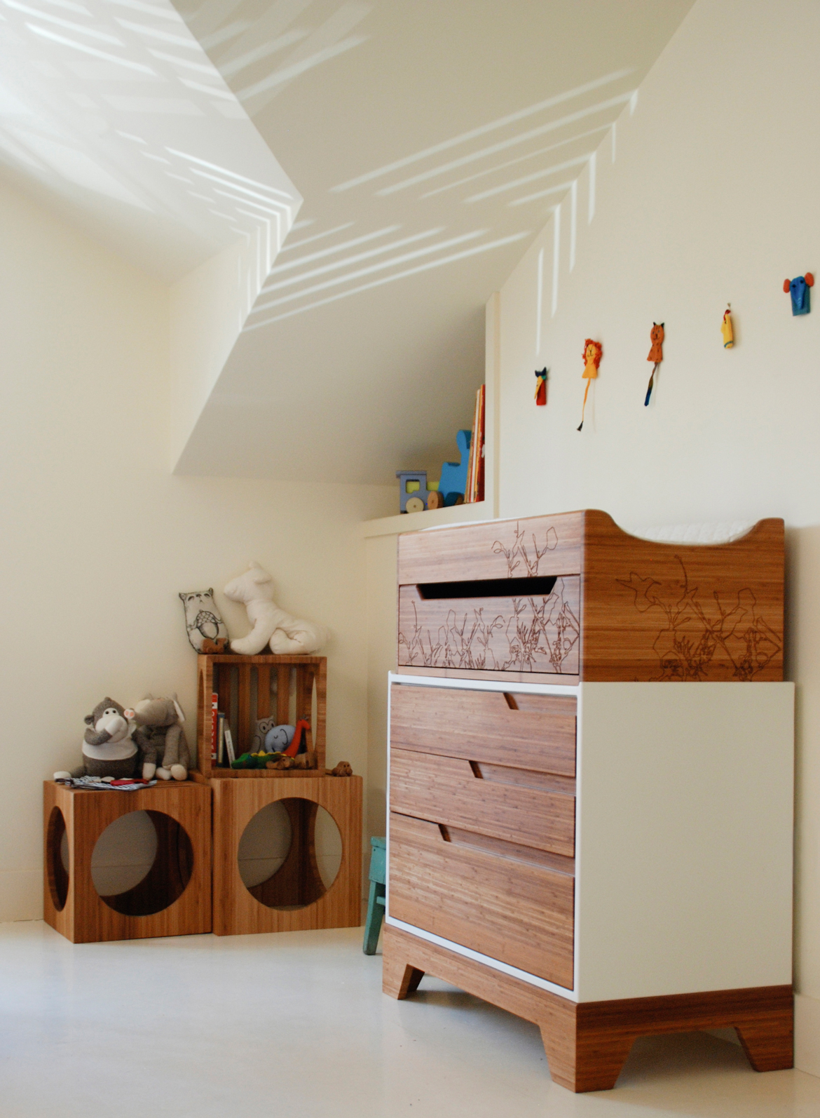 Ioline Dresser and Changing Table bamboo