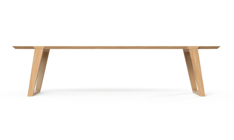 Isometric Bench White Large Oak
