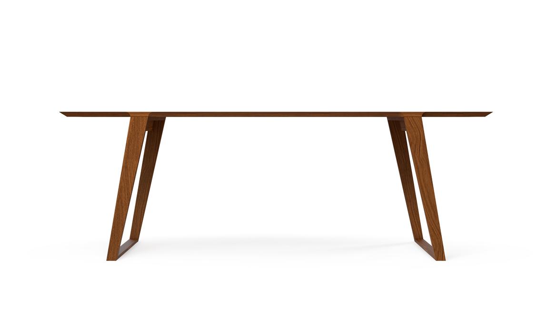 Isometric Table in Medium Black Walnut