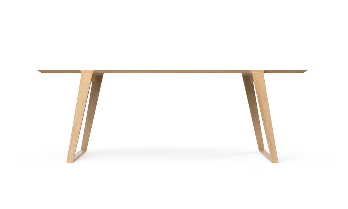 Isometric Table in White Oak Small