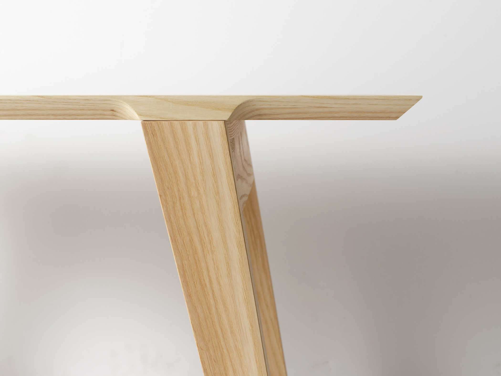 Modern contemporary solid wood bench or coffee table detail