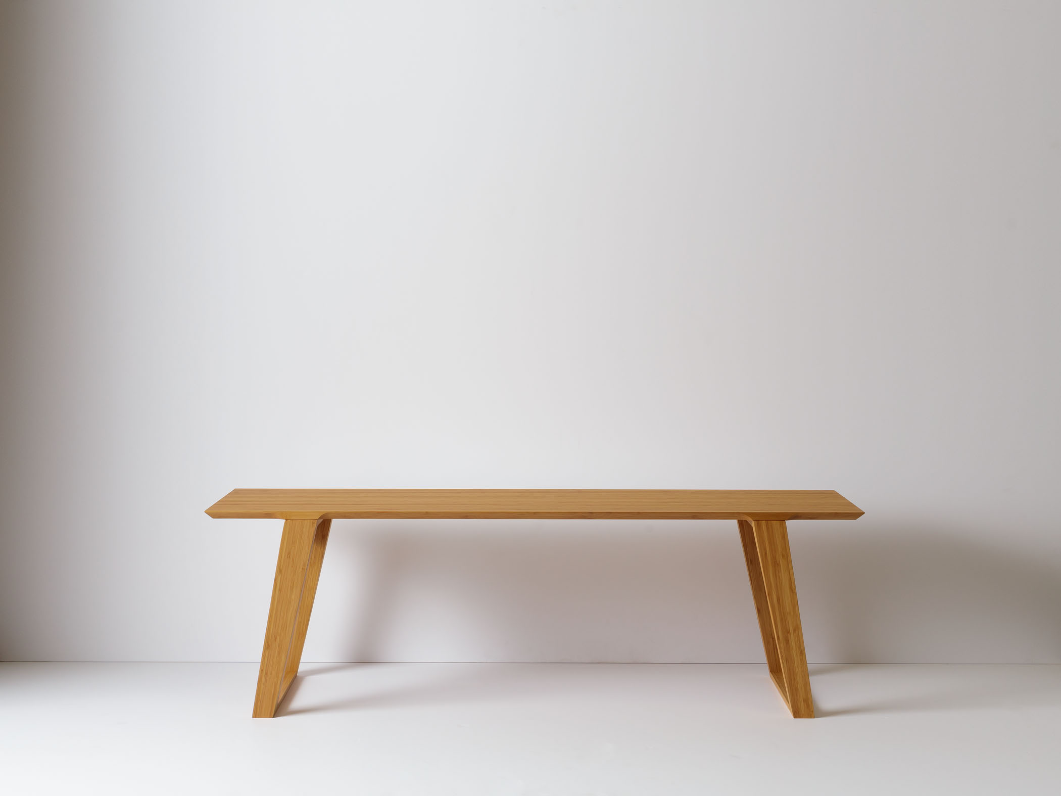 Modern contemporary bench or coffee table in solid bamboo