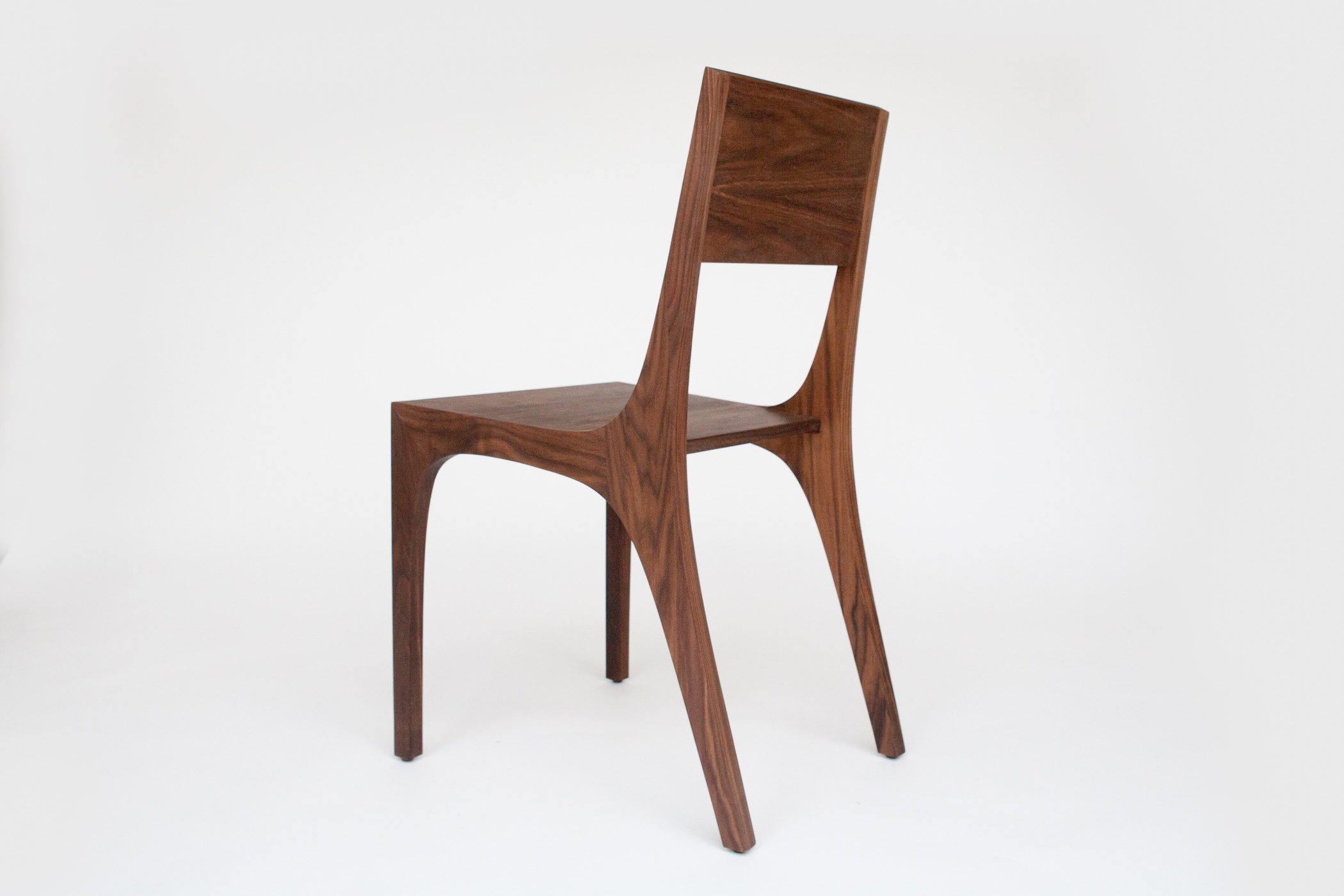 Isometric Chair in Black Walnut