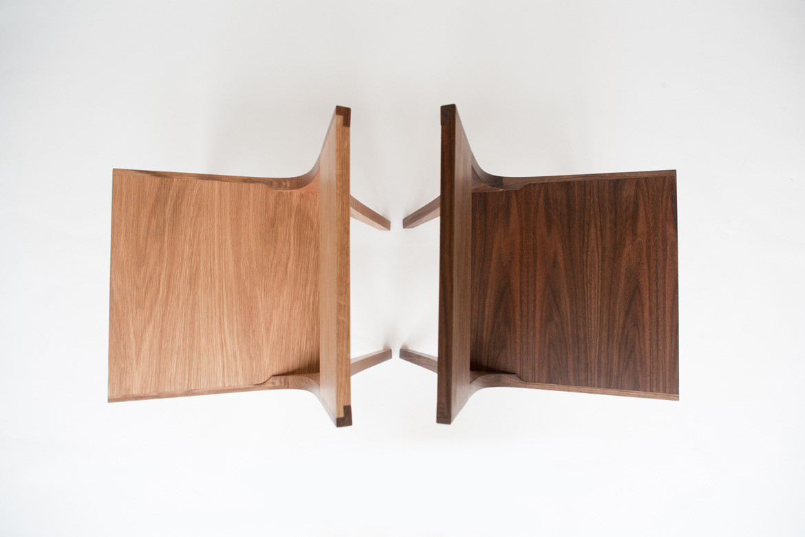 Isometric Chairs in White Oak and Black Walnut