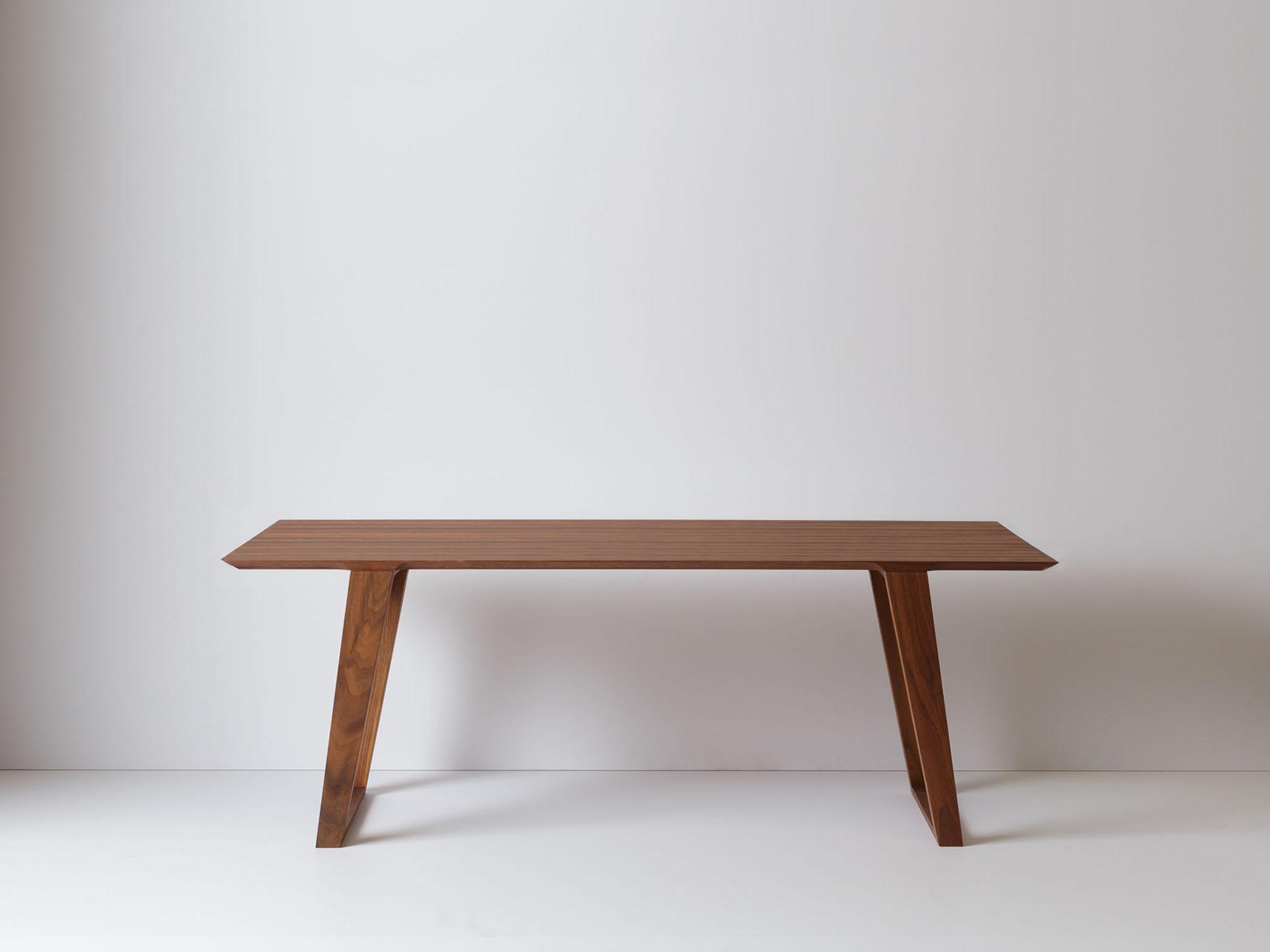 Solid walnut Isometric table