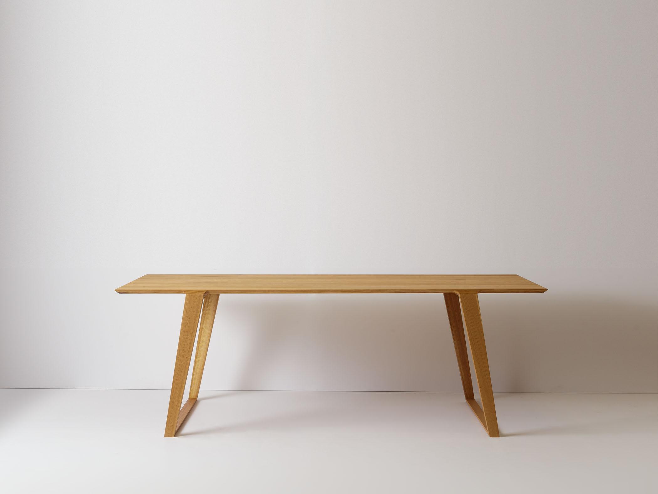 Isometric Table in White Oak