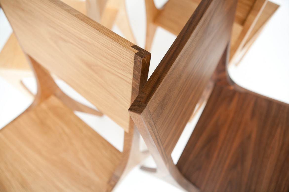 Isometric Chairs Mixed Woods