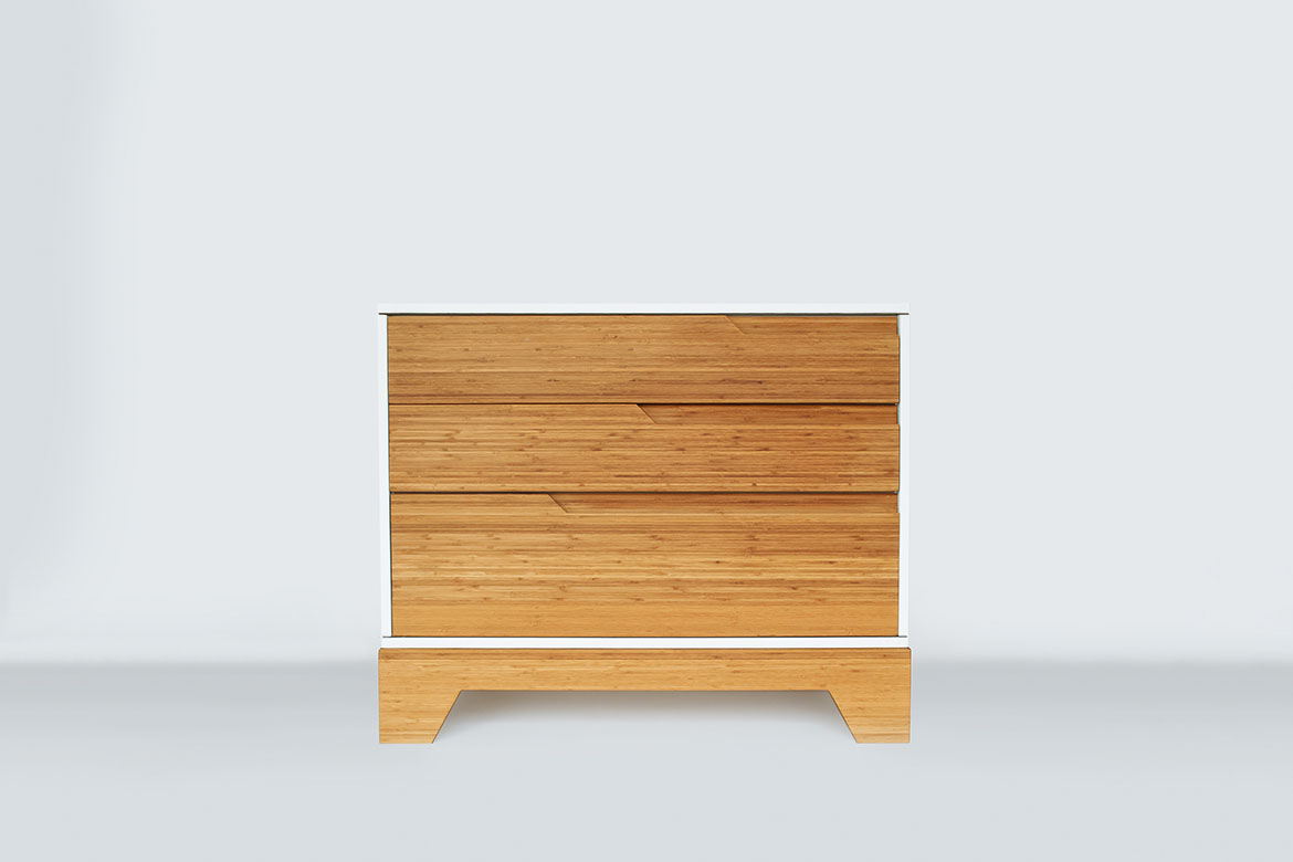 IoLine solid bamboo dresser