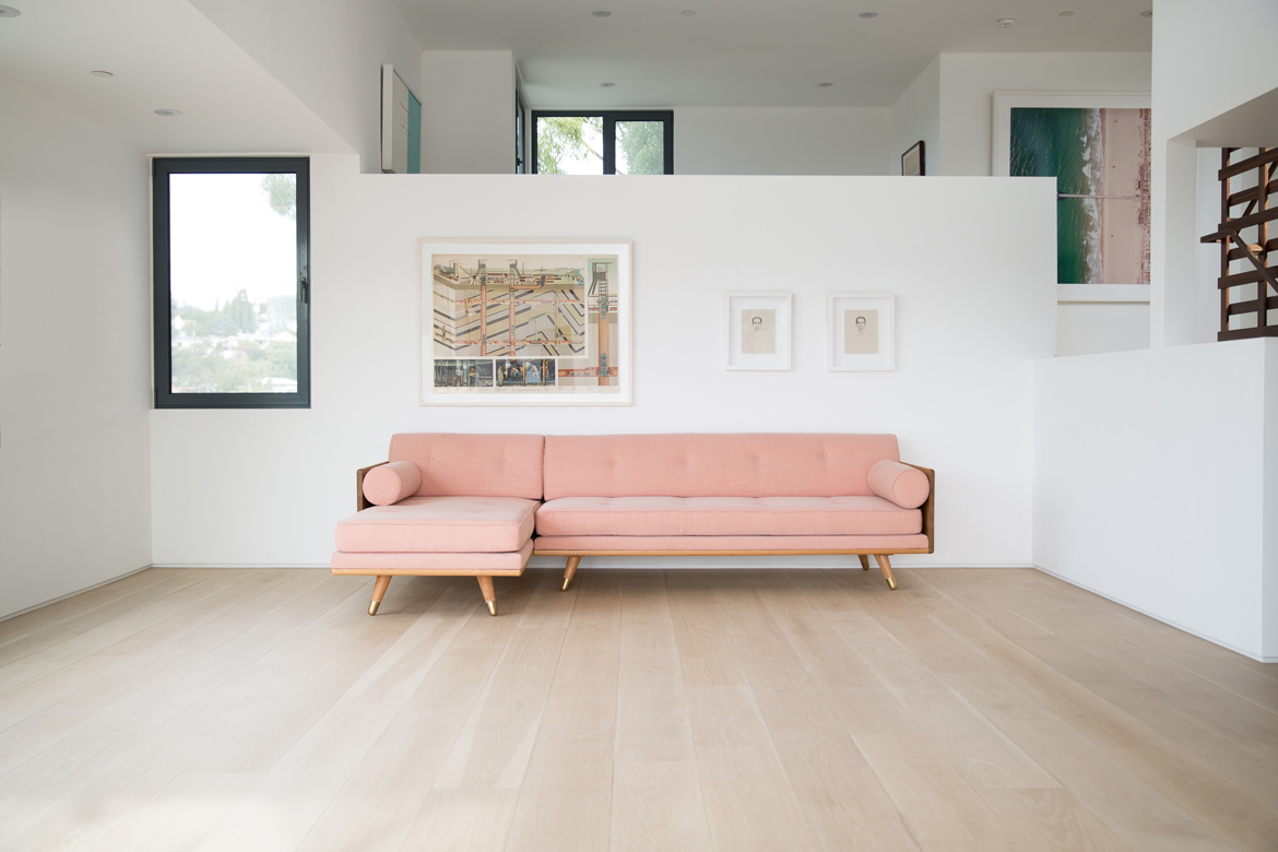No.5 Series Sectional in Pink