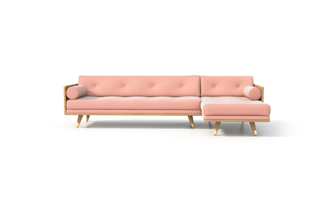 No.5 Series Sectional Pink front view