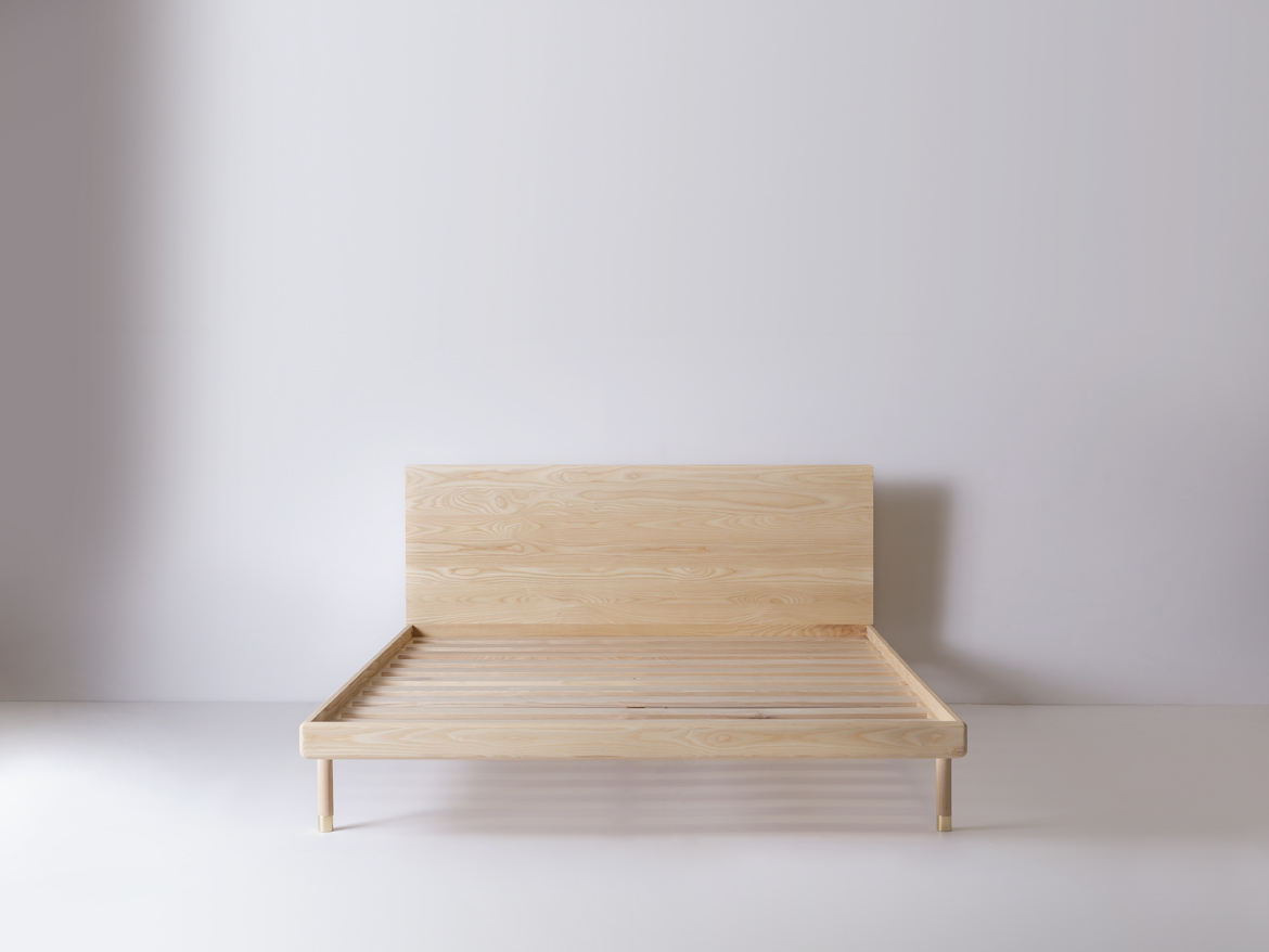 simple bed  modern platform bed with brass feet  kalon studios us - simple