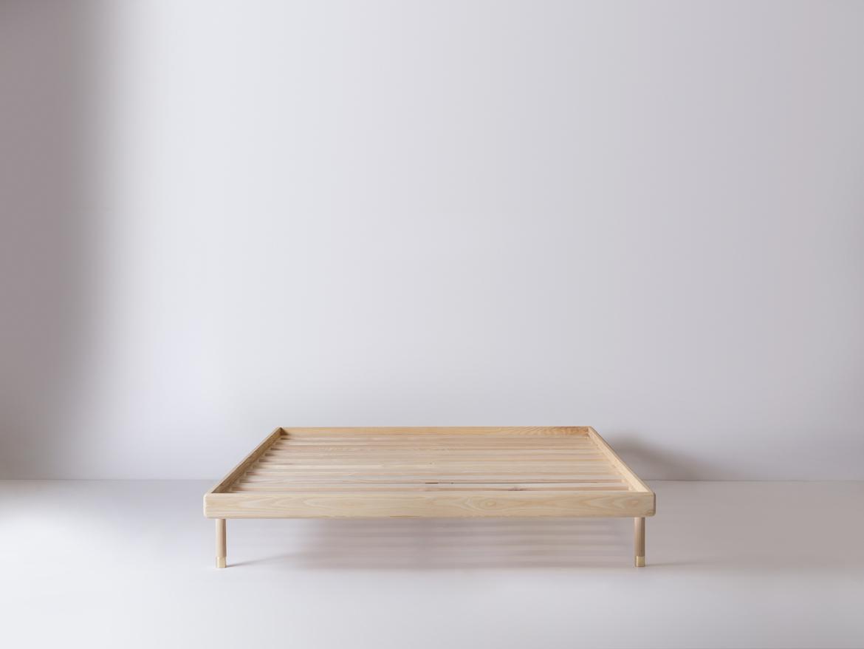 Simple Bed Modern Platform Bed With Brass Feet Kalon