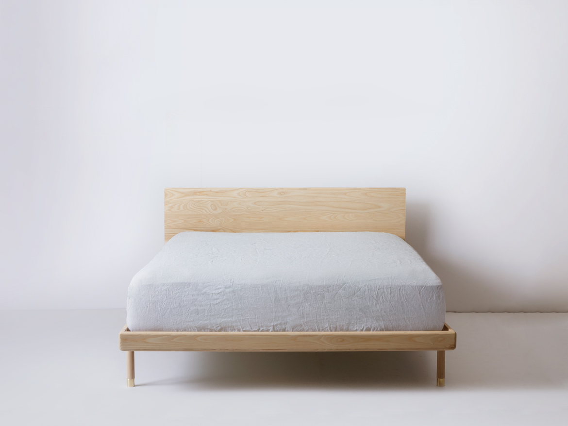 simple bed detail of frame