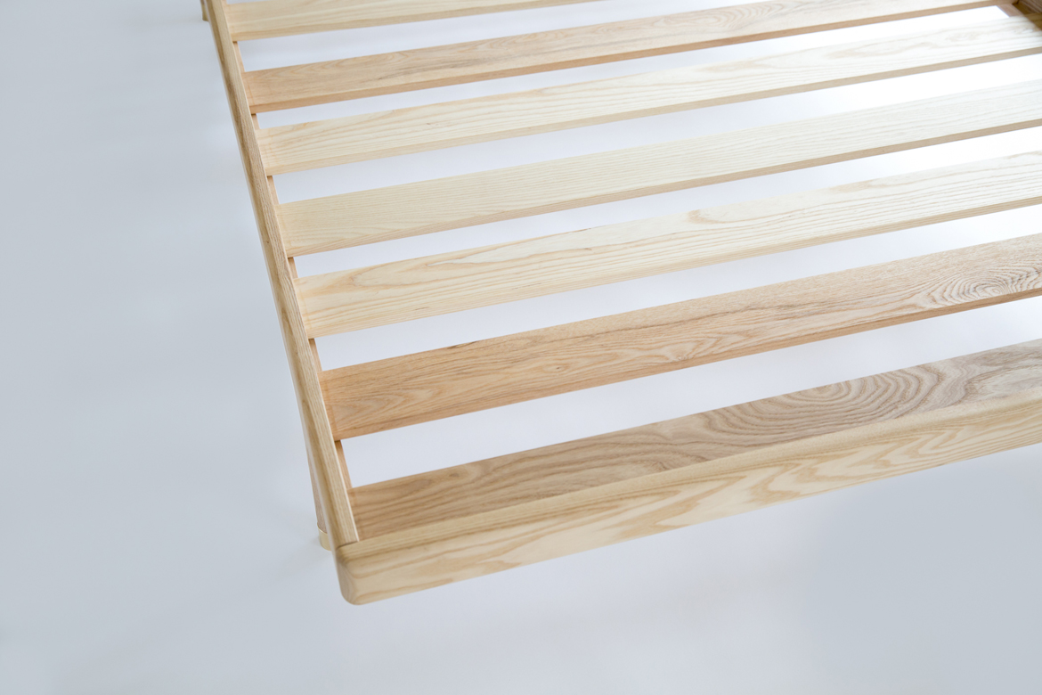 Simple Bed detail of slats from top