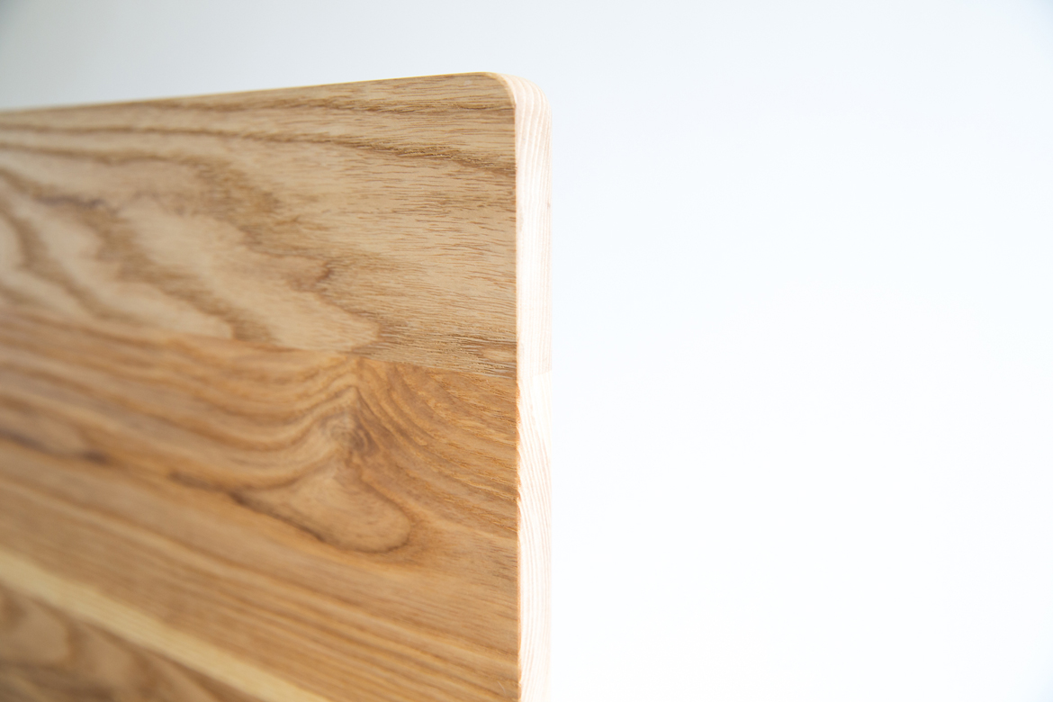 Simple Bed headboard detail solid ash