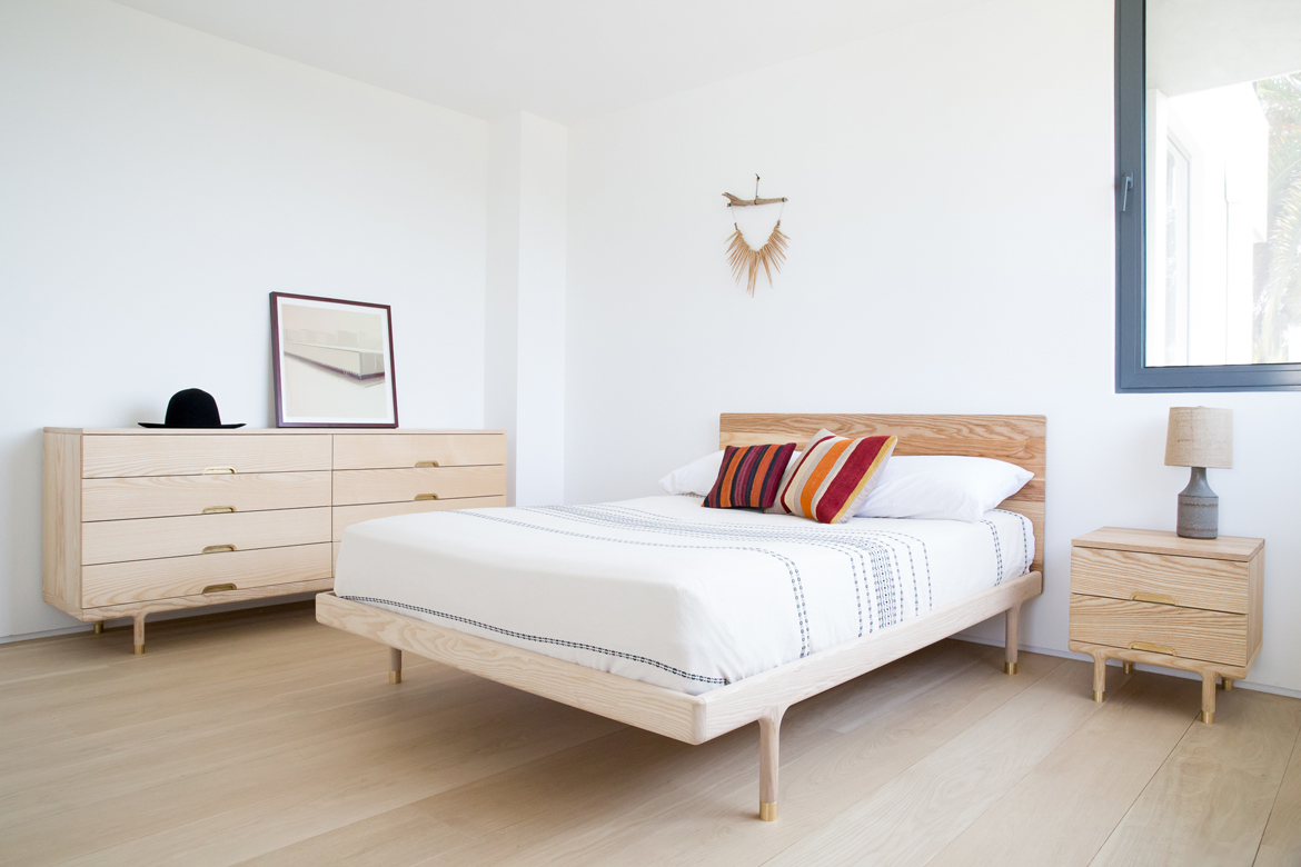 Simple bed frame design - Simple Collection Solid Ash Bedroom Furniture