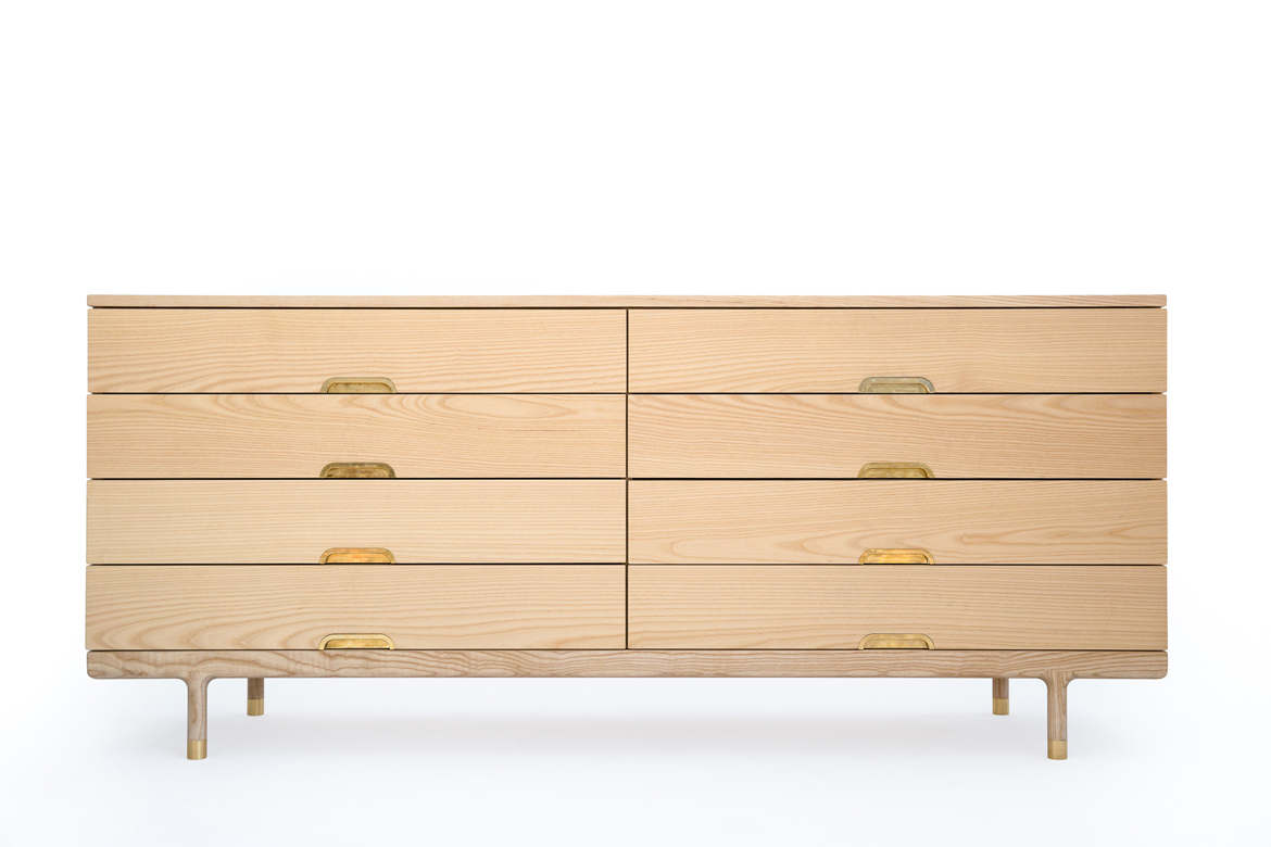 Simple Dresser solid ash and brass