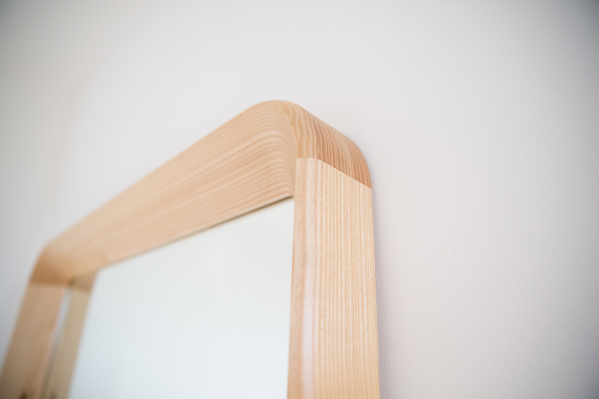 Simple Mirror detail of chamfered edge