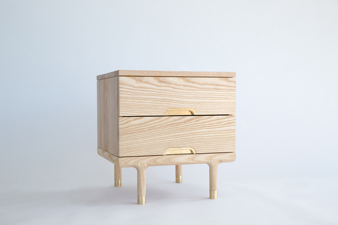 Simple Side Table three-quarter view