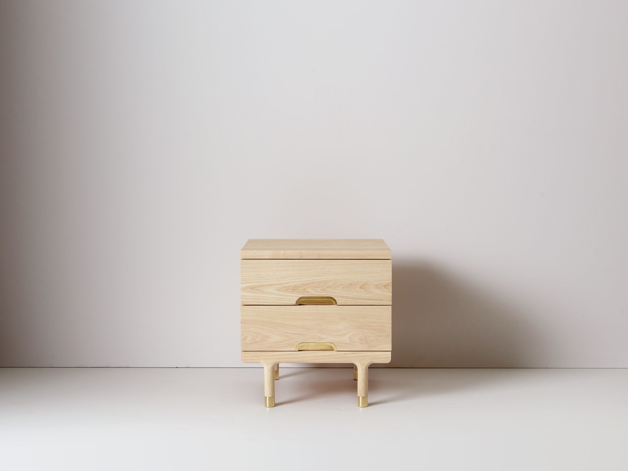 Modern Solid Wood Simple Side Table Nightstand ...