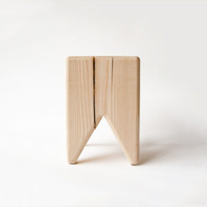 Stump unfinished stool or side table