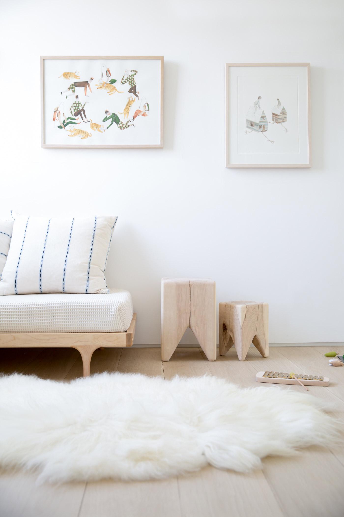 stump  modern raw wood stool or side table  kalon studios us - stumps and caravan divan in the wild