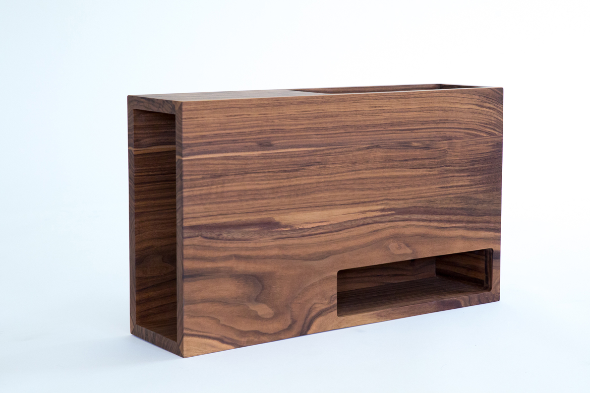 unit 1 in black walnut modern shelf