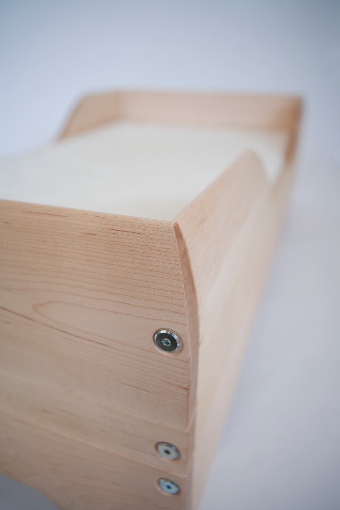Detail of Echo Toddler Bed + hardware
